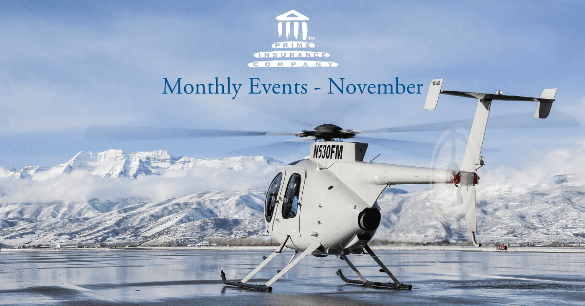 Monthly Insurance Events - November